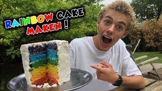 EEN RAINBOW CAKE MAKEN! Ft. Isa en Mama