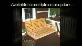 Al Furniture Co. Cross Back 75 In. Red Cedar Swing Bed - 424