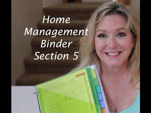 Home Management Bindergarden Planning