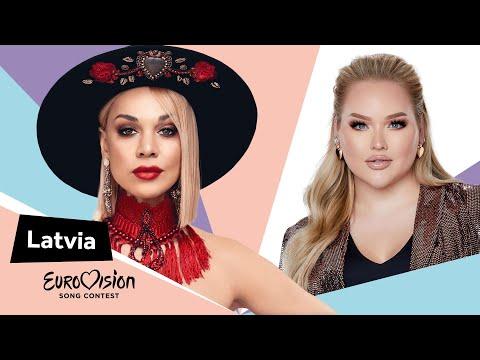 Eurovisioncalls Samanta Tīna - Latvia 🇱🇻 with NikkieTutorials