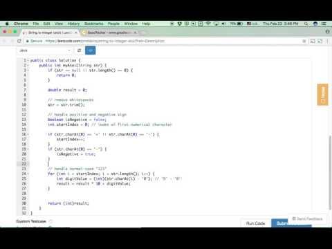 LeetCode 8  String to Integer (atoi) - GoodTecher