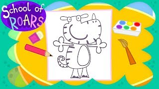 School of Roars   Drawing  Cartoon Monsters   How To Draw Wufflebump   Drawing Cartoons for Children