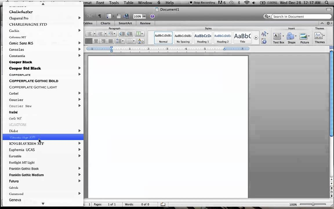 how to type the letter a in microsoft word