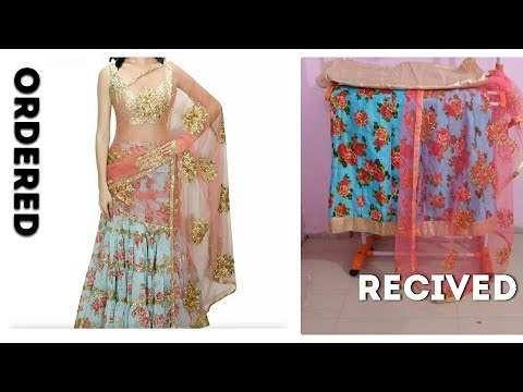 I bought lehnga from voonik.com|online shopping expections vs reality