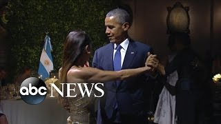 President Obama Dances Tango in Argentina
