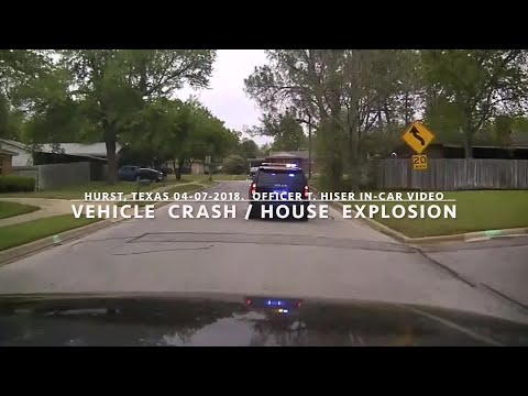 Incredible: House explosion caught on dashcam