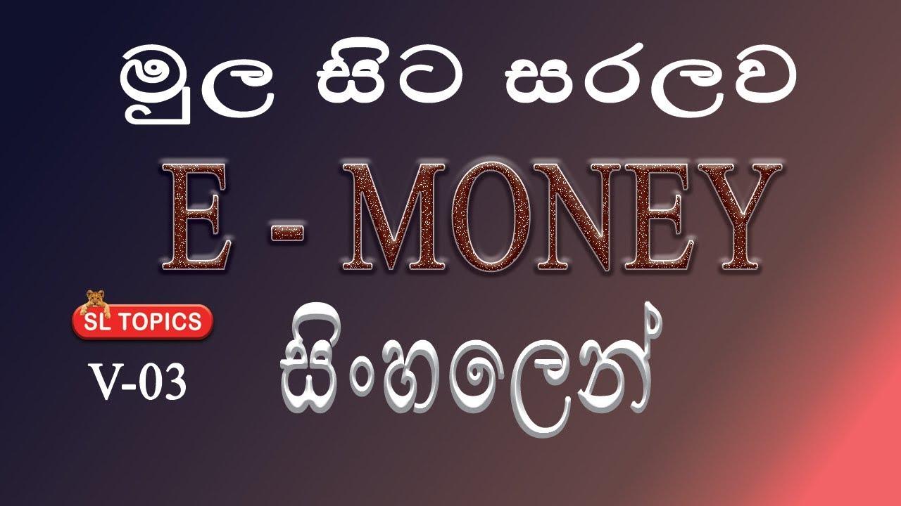 E-Money in Sinhala | How to Make money using internet |#03|2019