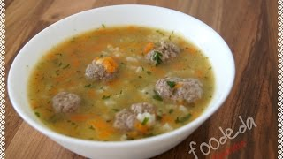 Suppe mit Hackbällchen/ Суп с фрикадельками/ Soup with meatballs