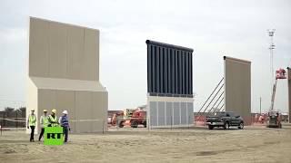 Exponen 8 prototipos del muro de Trump entre EE.UU. y México