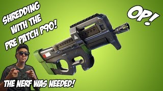 Fortnite: The P90 is Insane! (Pre Patch)