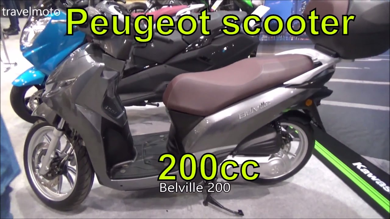 the new 2017 peugeot scooter belville 200 youtube. Black Bedroom Furniture Sets. Home Design Ideas