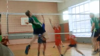 Volleyball # Отличный приём~Техничное пробитие блока!!!