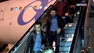 La llegada del equipo a Barcelona