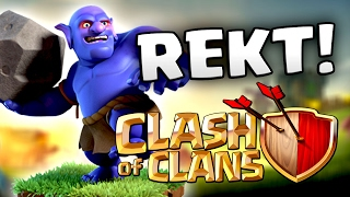 GET REKT!! BOWLER ARMY IN ACTION FOR CLAN WAR IN CLASH OF CLANS!! KEVINSMAK