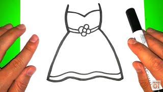 Kolay Elbise Çizimi!!! How To Draw A Dress!!!