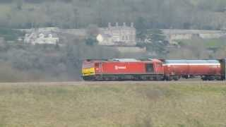 DB Schenker 60010 6b33 Murco Tanks @ Newton st Loe, Bath 30-03-13