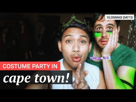 Costume Party In Cape Town, MCQP! - VLOGMAS 2017 DAY 16 - RomeAroundTheWorld