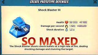 SHOCK BLASTER MAX LEVEL | Boom Beach | STRONG DEFENSE