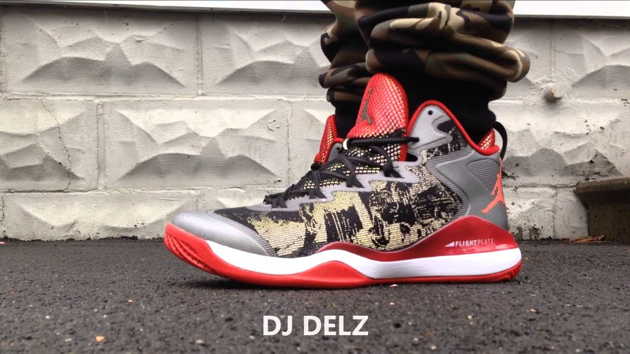 01265e72c5566 Air Jordan Slam Dunk Superfly 3 Hanamichi Sakuragi Shoe On Foot With 3M  Activated With  DjDelz