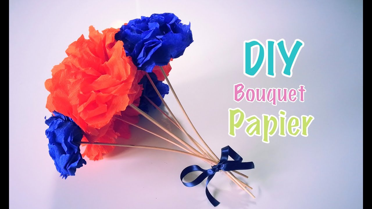 Diy f te des m res bouquet de fleurs en papier youtube for Bouquet de fleurs nature