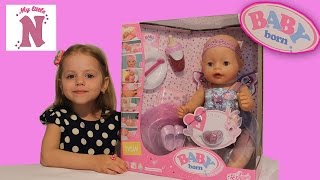 Мисс Кейти и Мистер Макс подарили Беби Борн  распаковка Miss Katy Mister Max Baby Born Doll unboxing