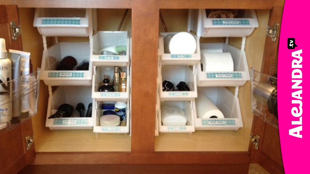 Bathroom Cabinets Organizing Ideas bathroom organization: how to organize under the cabinet - youtube