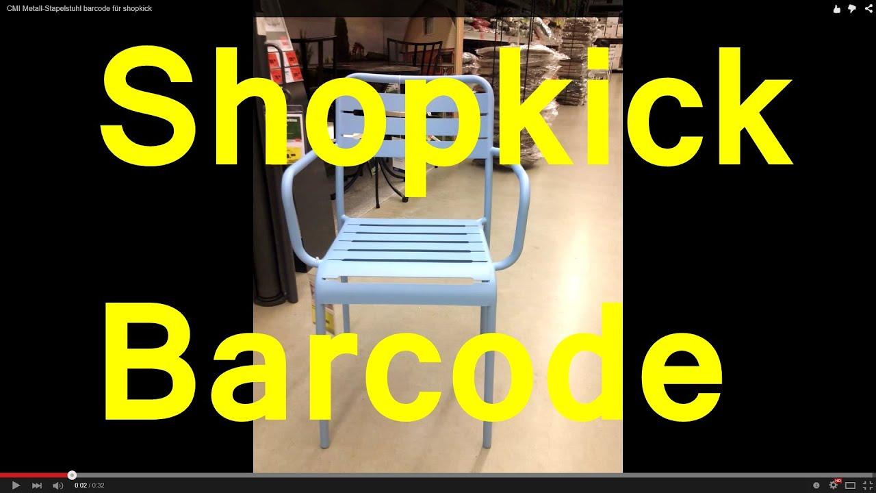 CMI Metall-Stapelstuhl barcode für shopkick - YouTube