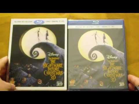The Nightmare Before Christmas 3D Blu-ray Unboxing - YouTube