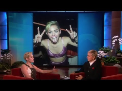 Miley Cyrus Talks About Her Tongue on The Ellen Show