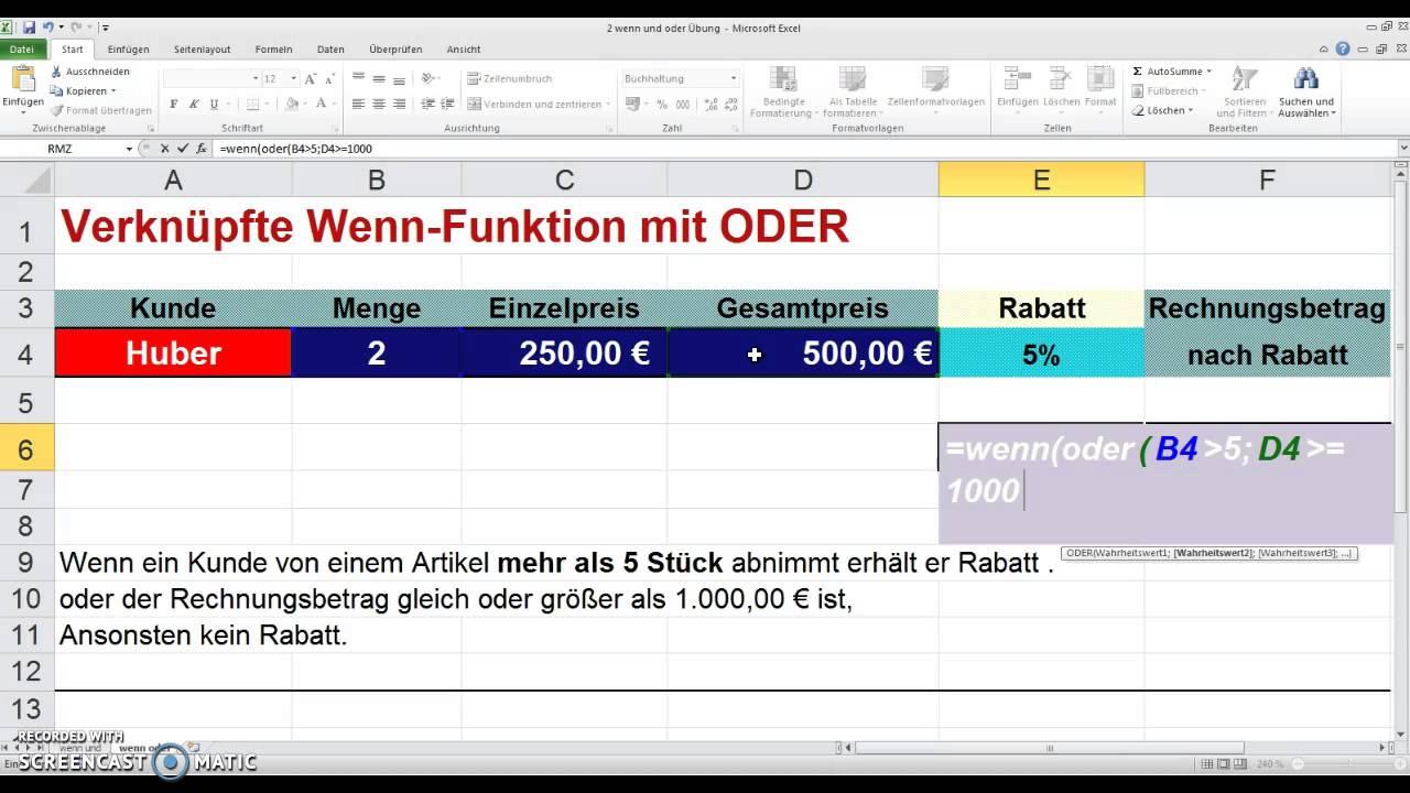 Excel Wenn Oder