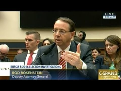 Deputy Attorney General Rod Rosenstein Grilled On Robert Mueller Investigation