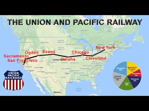 Union Pacific Railroad History Map Union Pacific Railway Explained | Route, Map, Cities, Economic