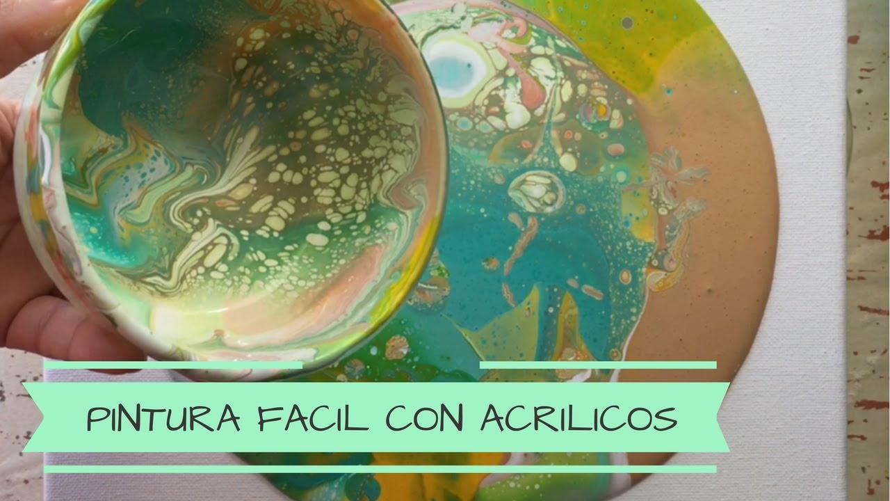Como pintar un cuadro facil como pintar un cuadro abstracto t cnica acrylic pouring youtube - Como pintar cuadros faciles ...