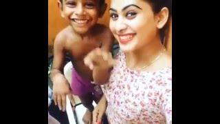 Piumi Hansamali's son - A funny thing happens at the end