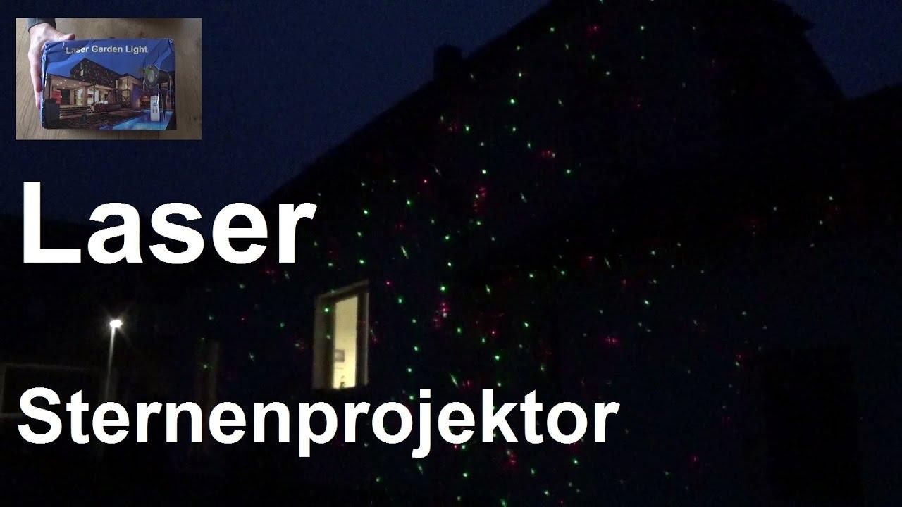 Test Led Weihnachtsbeleuchtung.Laser Sternenprojektor Für Die Hausfassade Oder Garten Laser Garden Light Coole Weihnachtsdeko