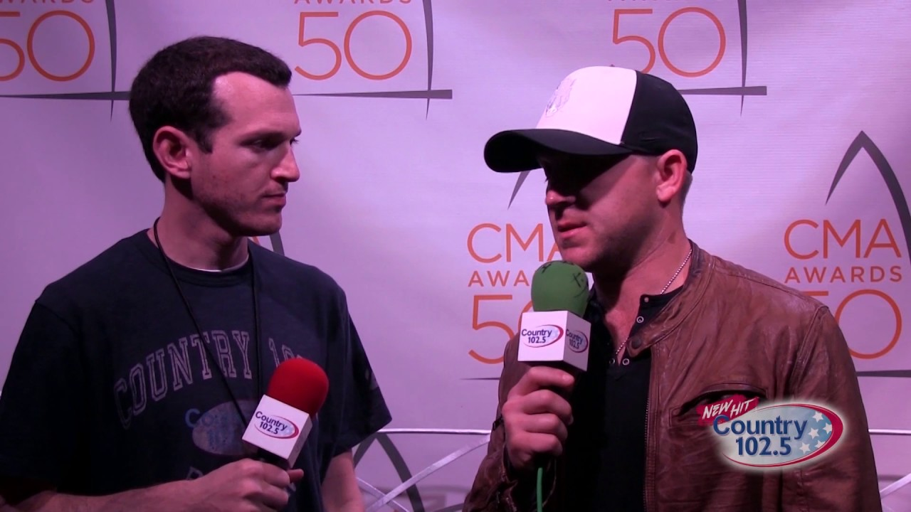 The 50th Annual Cma Awards Broadcast Justin Moore Interview Youtube
