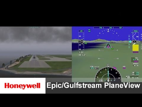 Honeywell Epic/Gulfstream PlaneView SV-PFD SVS 2.0:Demo Outside Obscuration   Training   Honeywell