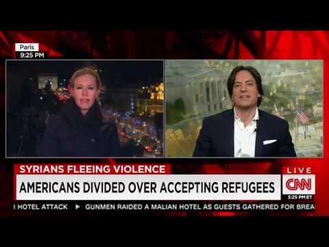David Tafuri on CNN with Poppy Harlow in Paris on Syrian Refugees