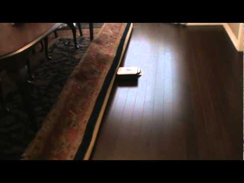 Mint Automatic Floor Cleaner Robot On Dining Room Hardwood Floor.mpg    YouTube