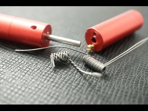 Wrapping the twisted & parallel 24GA Kanthal by the Coil winder