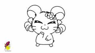 Bijou - Hamtaro - How to Draw Hamtaro
