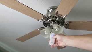 Hunter State Street ceiling fan with remote review NOT GREAT