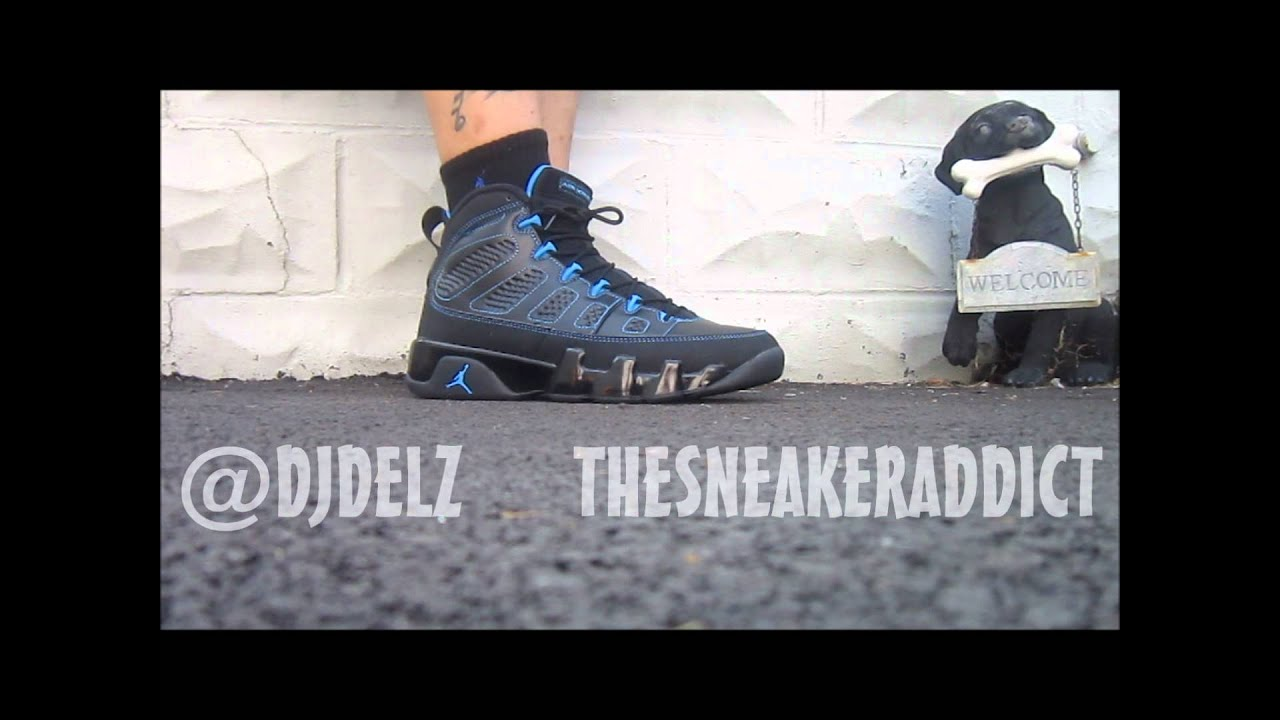 super popular a8c4f c3ae4 ... official store 2013 air jordan photo blue black bottom ix 9 sneaker  review w djdelz plus