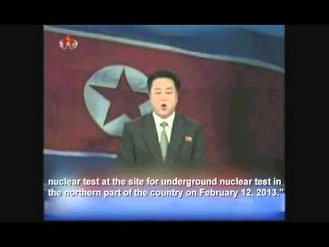 Bizarre North Korean announcer cheerfully confirms Nuclear test
