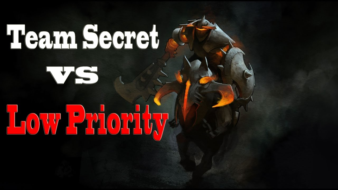 Team Secret Vs Low Priority Chaos Knight  Midone  Pudge