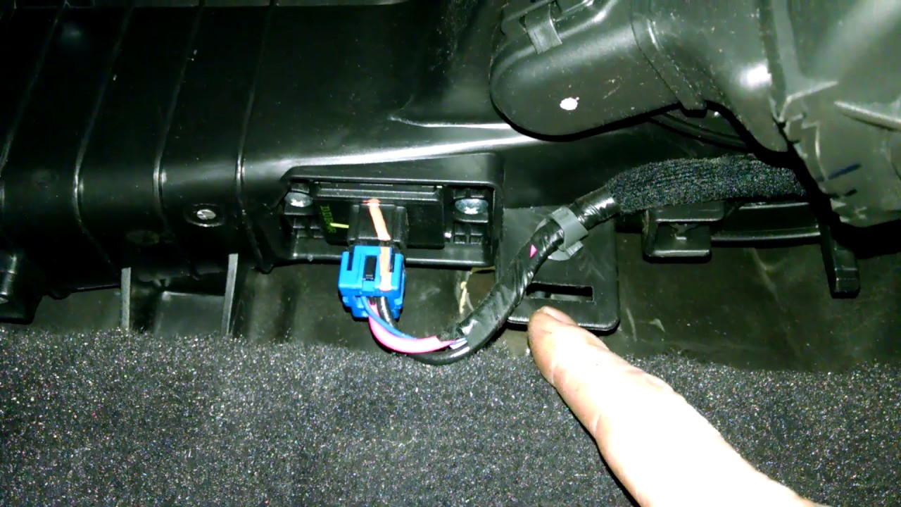 temperature control motor actuator hyundai sonata 2009 passenger side install remove replace [ 1280 x 720 Pixel ]