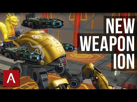 War Robots Test Server 3.7: NEW WEAPON ION | Gameplay with Different Builds