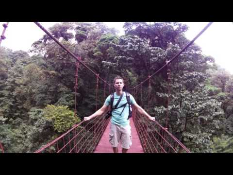 Costa Rica Canopy Suspension Bridge Monteverde Cloud Forest with Michael Burr of LeaningTraveler.com