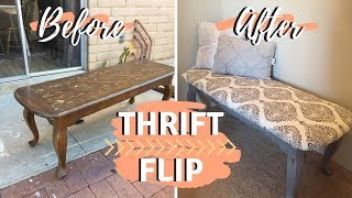 DIY Bench Ottoman | Thrifted Makeover | Thrift Store Flip