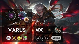 Varus ADC vs Miss Fortune - KR Master Patch 9.21